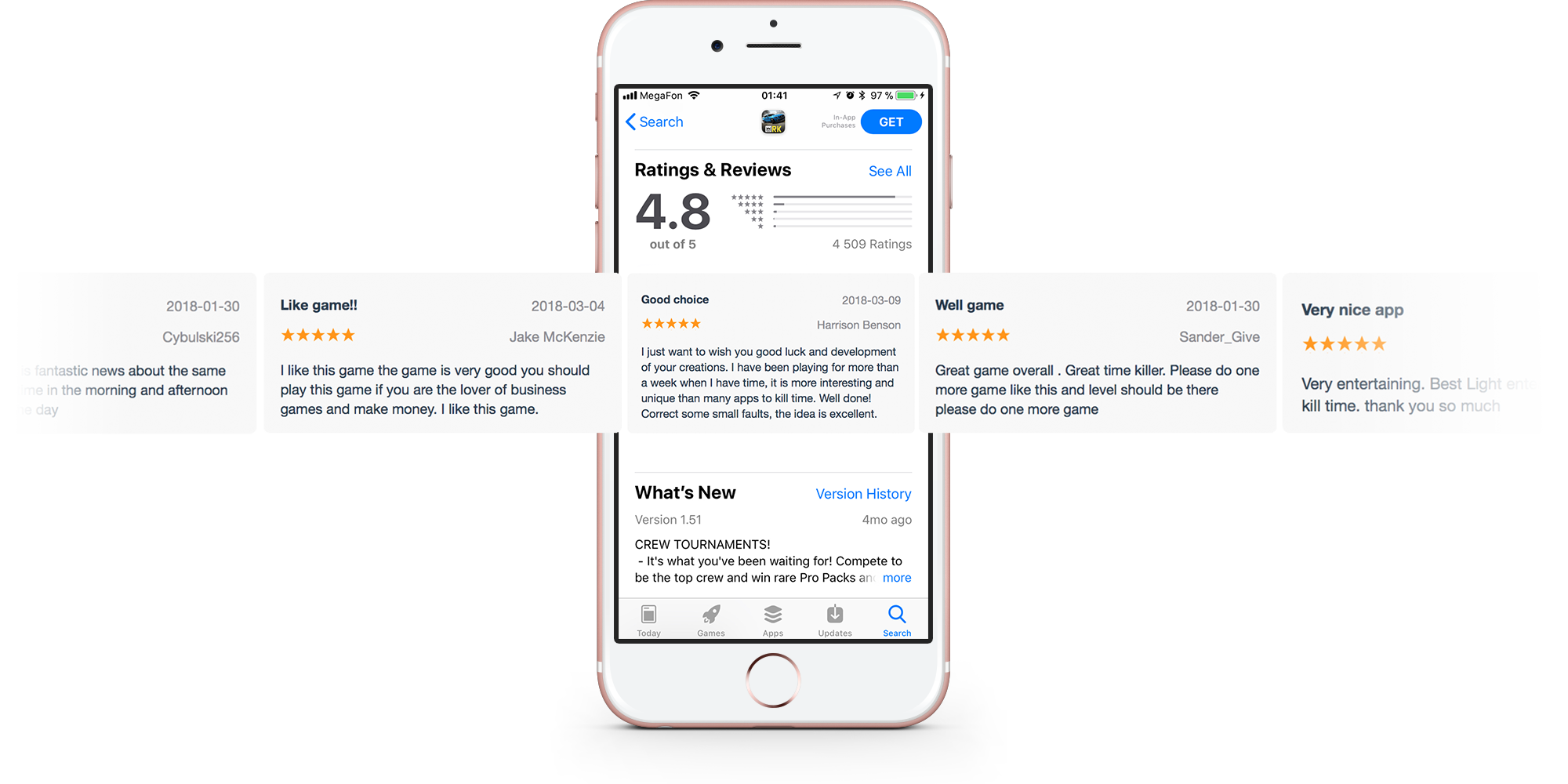 Buy Appstore and GooglePlay reviews | ReviewApp